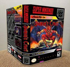 Demon's Crest SNES Game Case with Internal Artwork