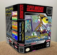 Chester Cheetah: Too Cool to Fool SNES Game Case with Internal Artwork