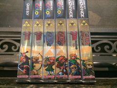 Legend of Zelda 6 Case Gameboy Lot WITH CUSTOM SPINES!