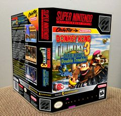 Donkey Kong Country 3: Dixie Kong's Double Trouble! SNES Game Case with Internal Artwork