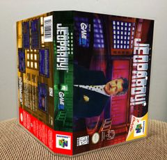 Jeopardy! N64 Game Case with Internal Artwork
