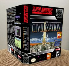 Civilization SNES Game Case with Internal Artwork