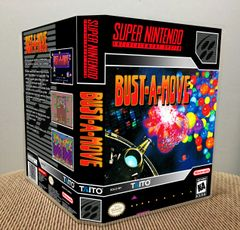 Bust-a-Move SNES Game Case with Internal Artwork