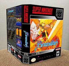 Brandish SNES Game Case with Internal Artwork