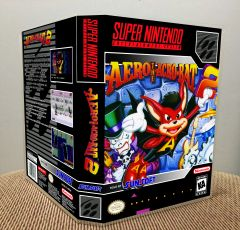 Aero the Acro-Bat 2 SNES Game Case with Internal Artwork