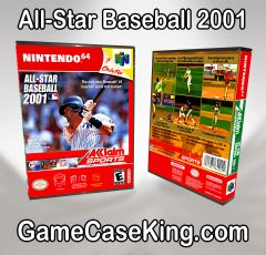 All-Star Baseball 2001 N64 Game Case