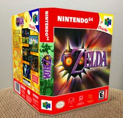 Legend of Zelda Majora's Mask N64 Game Case with Internal Artwork