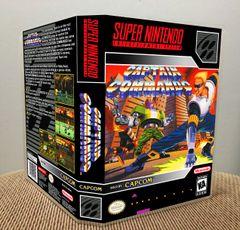 Captain Commando SNES Game Case with Internal Artwork