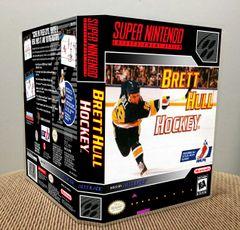 Brett Hull Hockey SNES Game Case with Internal Artwork