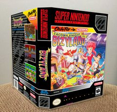 Cacoma Knight in Bizyland SNES Game Case with Internal Artwork