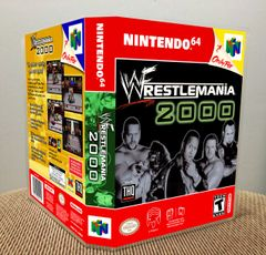 WWF WrestleMania 2000 N64 Game Case with Internal Artwork