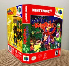 Banjo-Kazooie N64 Game Case with Internal Artwork