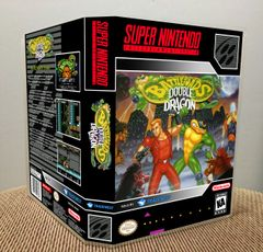 Battletoads & Double Dragon SNES Game Case with Internal Artwork