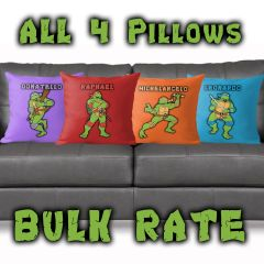 ALL 4 TMNT Pillows ~FREE SHIPPING~