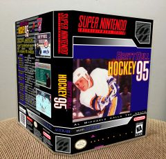 Brett Hull Hockey '95 SNES Game Case with Internal Artwork