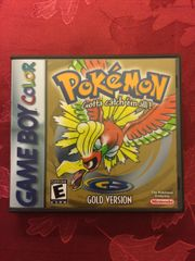 Pokemon Gold GBC Game Case