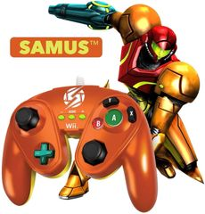 SAMUS - Nintendo Wii / Wii U Official Wired Fight Pad Classic Controller BRAND NEW IN BOX