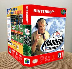 Madden NFL 2000 N64 Game Case with Internal Artwork
