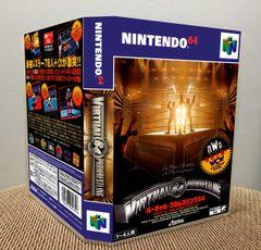Virtual Pro Wrestling 64 N64 Game Case with Internal Artwork