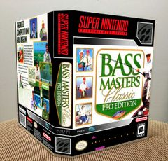 Bass Masters Classic: Pro Edition SNES Game Case with Internal Artwork