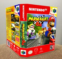 Mario Kart 64 N64 Game Case with Internal Artwork