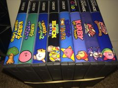 Kirby 8 Case Gameboy Lot WITH CUSTOM SPINES!