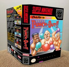 Super Punch-Out!! SNES Game Case with Internal Artwork