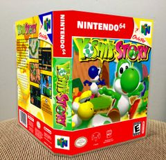 Yoshi's Story N64 Game Case with Internal Artwork