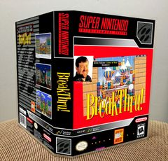 BreakThru! SNES Game Case with Internal Artwork