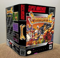 Breath of Fire II SNES Game Case with Internal Artwork