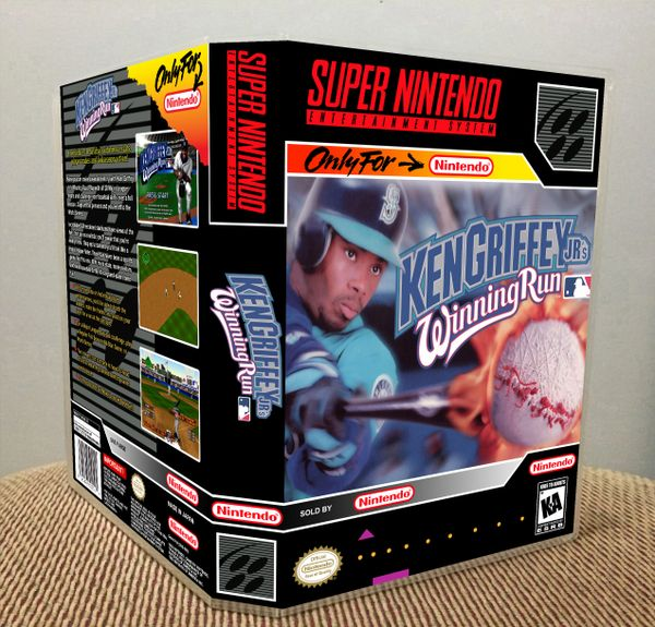 cd78a1fbdc Ken Griffey Jr.'s Winning Run SNES game case   Game Case King - Custom Game  Cases for NES, SNES, N64, & Gameboy