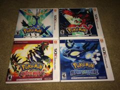 Pokemon 3DS 4 Case Lot