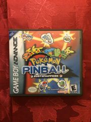 Pokemon Pinball: Ruby & Sapphire GBA Game Case