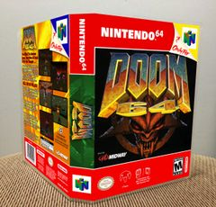 Doom 64 N64 Game Case with Internal Artwork