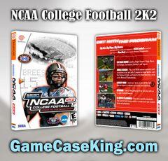 NCAA College Football 2K2 Sega Dreamcast Game Case