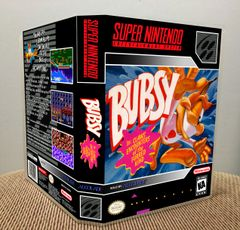 Bubsy in Claws Encounters of the Furred Kind SNES Game Case with Internal Artwork