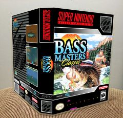 Bass Masters Classic SNES Game Case with Internal Artwork