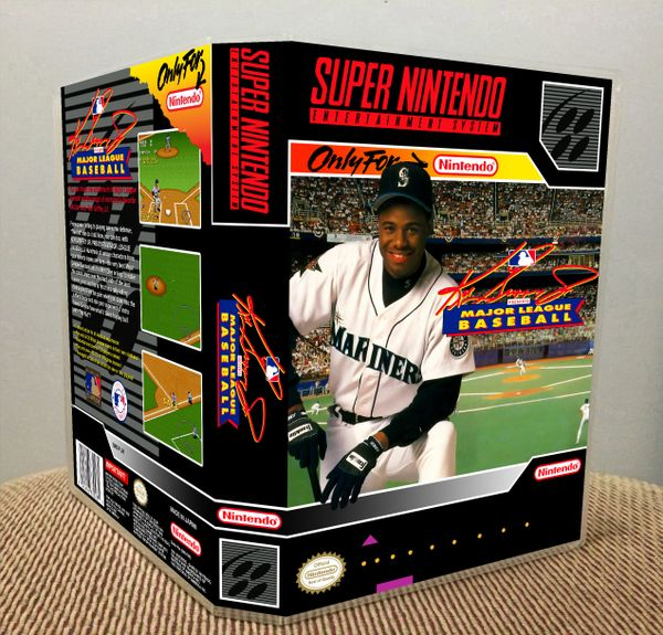 a2d3addcd9 Ken Griffey Jr. Presents Major League Baseball SNES game case | Game Case  King - Custom Game Cases for NES, SNES, N64, & Gameboy