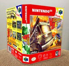 Vigilante 8: 2nd Offense N64 Game Case with Internal Artwork