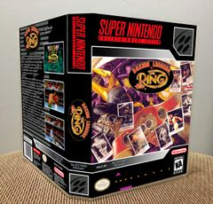 Boxing Legends of the Ring SNES Game Case with Internal Artwork