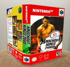 Knockout Kings 2000 N64 Game Case with Internal Artwork