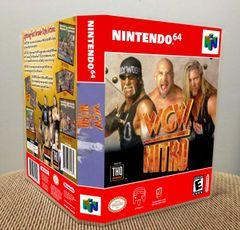 WCW Nitro N64 Game Case with Internal Artwork