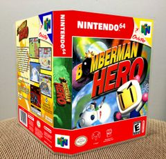 Bomberman Hero N64 Game Case with Internal Artwork