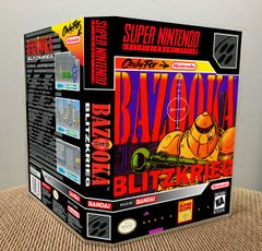Bazooka Blitzkrieg SNES Game Case with Internal Artwork