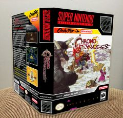 Chrono Trigger SNES Game Case with Internal Artwork