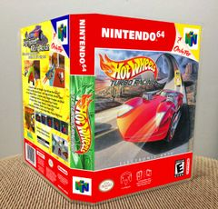 Hot Wheels Turbo Racing N64 Game Case with Internal Artwork