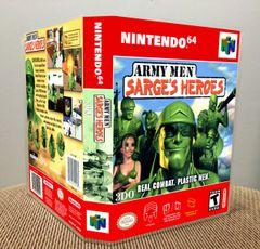 Army Men: Sarge's Heroes N64 Game Case with Internal Artwork