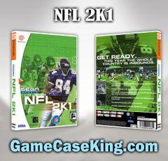 NFL 2K1 Sega Dreamcast Game Case