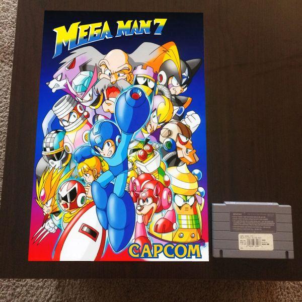 mega man 7 poster 18x12 in nintendo poster game case king