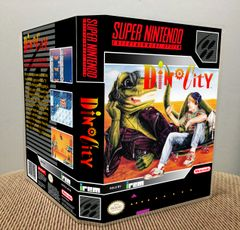 DinoCity SNES Game Case with Internal Artwork